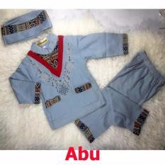Baju Koko Bayi Setelan Baju Muslim Bayi Terlaris - Trend Wish - Abuabu - L - (estimasi 18-24 bulan)