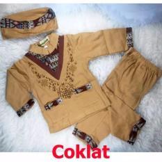 Baju Koko Bayi Setelan Baju Muslim Bayi Terlaris - Trend Wish - Coklat - S - (estimasi 6-12 Bulan)