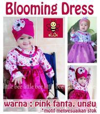 Baju Muslim Anak Usia 1 Tahun- Blooming Dress Lucu