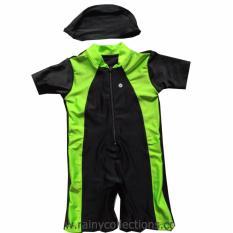 Promo Baju Renang Bayi Polos Dengan Topi Rainy Collections