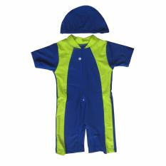 Baju Renang Bayi Unisex Dengan Topi Original