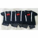 Promo Baju Set Mickey Ribbon Black Baju Bayi Anak Setelan Kaos Untuk Umur 1 2 3 Tahun Sml Murah