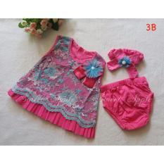 Jual Baju Setelan Bayi Perempuan Sa 3B Hotpink Indonesia