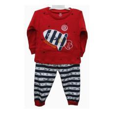 Baju  tidur anak laki laki Gracie Zoooom Merah Usia 3 Tahun (Size 05)