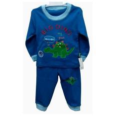 Baju Tidur Bayi Laki laki Motif Dino Biru Usia 9-12 Bulan (Size 02)