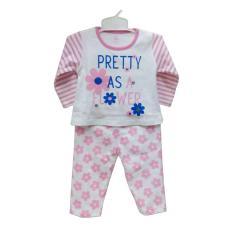 Baju Tidur Bayi Perempuan Gracie Motif Pretty Pink Usia 3-6 Bulan (Size S)