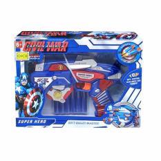 Harga Bajuuniqku Mainan Anak Soft Bullet Hero Blaster Senapan Pistol Eva Nerf Gun Captain America 2 Terbaik