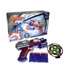 Toko Bajuuniqku Mainan Anak Soft Bullet Hero Blaster Senapan Pistol Eva Nerf Gun Captain America Termurah