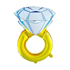 balon cincin diamond jumbo - balon diamond ring - balon wedding - balon bridal shower dekorasi