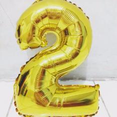 balon foil angka 2 emas / gold difie toys