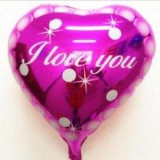 Balon Foil Love Motif I Love You