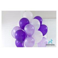 Balonasia Balon Metalik Mix 30 pcs (ungu muda,ungu tua, putih)