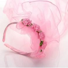 Balonasia Bando Veil Dewasa Dan Anak - Anak (pink, Putih) By Balonasia.