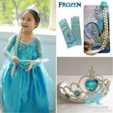 Balonasia Set Aksesoris Frozen Mahkota, Tongkat, Rambut dan Sarung Tangan