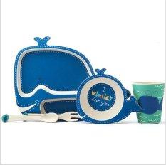 Harga Serat Bambu Anak Anak Tableware 5 Pcs Set Baby Piring Piring Mangkuk Cup Garpu Sendok Alat Makan Feeding Set Intl Oem Tiongkok