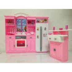 Barbie Size Dollhouse Furniture - My Fancy Life Kitchen Play Set - intl
