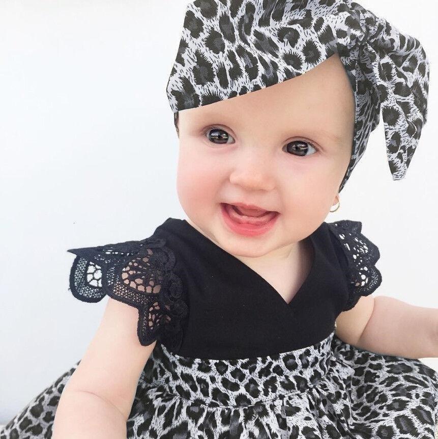 Penjualan Bayi Gadis Musim Panas Putri Baju Monyet Pakaian Kontes Pernikahan Pesta Tutu Dresses Headband terbaik