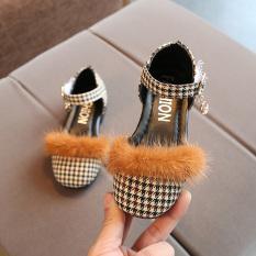 Bayi Gaya Korea dari Ribuan Burung Grid Musim Semi Model Sepatu Baru Anak-Anak Kecil Sepatu