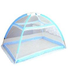 Pusat Jual Beli Bayi Kelambu Bed Canopy Kelambu Bayi Tenda Lipat Portabel Biru Tiongkok