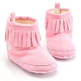 Toko Bayi Perempuan Ikatan Simpul Sepatu Bot Salju Musim Dingin Berwarna Merah Muda Online Tiongkok