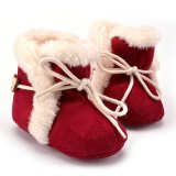 Jual Beli Sepatu Bot Salju Bayi Perempuan Dengan Ikatan Simpul Merah Tiongkok