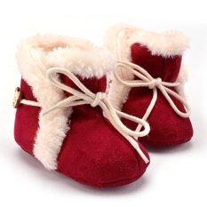 Sepatu Bot Salju Bayi Perempuan Dengan Ikatan Simpul Merah Vakind Diskon 40