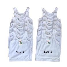 BAYIe - 12 PCS (1 lusin)  Kaos Dalam / Singlet Bayi Putih ORIN / singlet bayi new born / Singlet anak