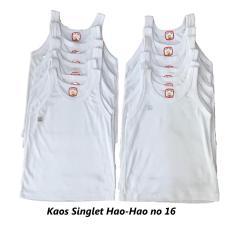 Jual Bayie 12 Pcs Kaos Dalam Singlet Bayi Putih Hao Hao 100 Katun Singlet Anak Hao Hao Online