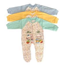 BAYIe - 3 pcs Baju Bayi model Jumper motif lucu MOM'S GIFT usia 0 - 6 bulan 100% katun/pakaian bayi tidur/baju bayi new born