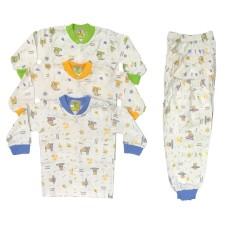 BAYIE - 3 SET  Setelan Baju Bayi Lengan Panjang + Celana Panjang COFUCU 100% katun Motif lucu umur 3-12 bulan / baju anak laki-laki/anak perempuan
