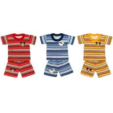 Beli Bayie 3 Set Setelan Kaos Oblong Bayi Lengan Pendek Proto Umur 4 18 Bulan Kaos Singlet Anak Laki Laki Baju Oblong Anak Perempuan Proto Asli