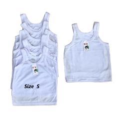 BAYIe - 6 PCS Kaos Dalam   Singlet Bayi Putih ORIN   singlet bayi new born 3ff59774ee