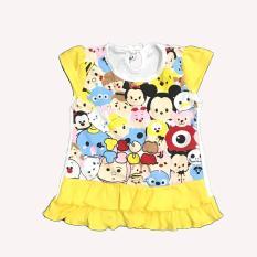 BAYIe - Baju bayi Perempuan Dress Tsum-tsum usia 0 - 6 bulan / Pakaian