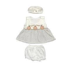 BAYIe - Baju bayi Perempuan motif LUCU MOM'S GIFT usia 0 - 6 bulan / Pakaian anak Cewek