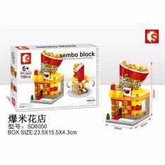 BB Mart Sembo Block Chain Store SD6050 118 Pcs - Mainan Susun Bangunan Gedung