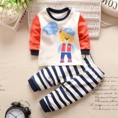 Jual Bayi Beruang Fashion Baju Santai Anak Laki Laki Dan Perempuan Terbelah 2 Buah L Lengan Atas Celana Set Pakaian Internasional Bear Fashion Online