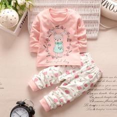 Dapatkan Segera Fashion Bayi Perempuan Rabbit Bear Bunga Hari Yang Indah Pakaian Anak 2 Buah L Lengan Atas Celana Pakaian Setelan Set Internasional