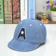Bear bayi baru lahir Jean Fashion gaya huruf A bayi perempuan laki-laki topi Baseball - Internasional