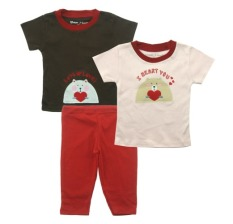 Beli Bearhug 3 Piece Set For Baby G*rl I Heart You Cicil