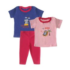 Beli Bearhug 3 Pieces Set Bayi Perempuan 12 24M Cat Fell Enjoy Ungu Cicil