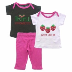 Review Pada Bearhug 3 Pieces Set Bayi Perempuan 9M Triple Strawberry Coklat