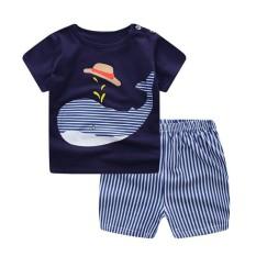 BeautyMaker Baby Boy Girl Summer Pakaian Pakaian Set Shirt + Celana 80 Cm 3 #-