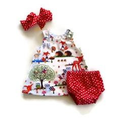 Diskon Beautymaker Newborn Baby G*rl Hewan Pola Dotted Shorts Gaun Headband Pakaian Pakaian Merah 70 Cm Intl Oem Di Dki Jakarta