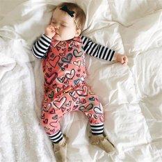 BeautyMaker Musim Panas 2017 Baru Lahir Bayi Anak Gadis Kapas Pakaian Floral Baby Romper Bodysuit Sunsuit