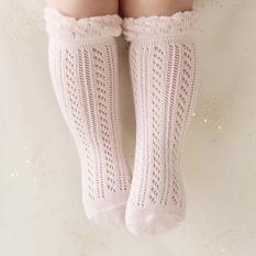 BeautyMaker Manis Bayi Perempuan Kaus Kaki Musim Panas untuk Bayi Bayi Lutut Kaki Tinggi Pink S