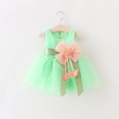 BeautyMaker Balita Bayi Gadis Musim Panas Pesta Pernikahan Princess Dress Hijau 90 cm for 0-6 month