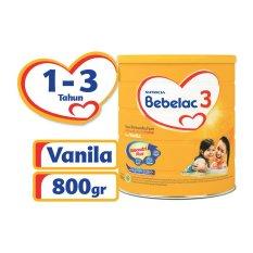 Harga Bebelac 3 Bebenutri Plus Susu Pertumbuhan Vanila 800Gr Lengkap