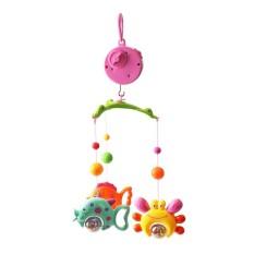 Tempat Tidur Bell Musik Mobile Biaya Tempat Bell Mainan Bayi Dreaming Bed Cincin Gantung Bel Putar Mainan Edukasi Kerincingan Mainan dengan Bracket-Intl