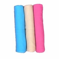 Beli Bayie Bedong Bayi Kaos Pin Pin Isi 3 Pcs Selimut Bayi Alas Bayi Alas Kereta Perlengkapan Bayi Warna Biru Cream Fanta Padie Murah