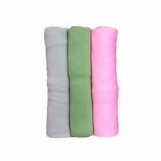 Jual Bayie Bedong Bayi Kaos Pin Pin Isi 3 Pcs Selimut Bayi Alas Bayi Alas Kereta Perlengkapan Bayi Warna Grey Hijau Pink Murah